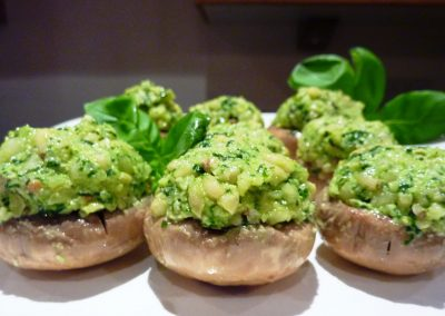 PESTO STUFFED MUSHROOMS | MUNCHWIZE DIETITIANS CAPE TOWN